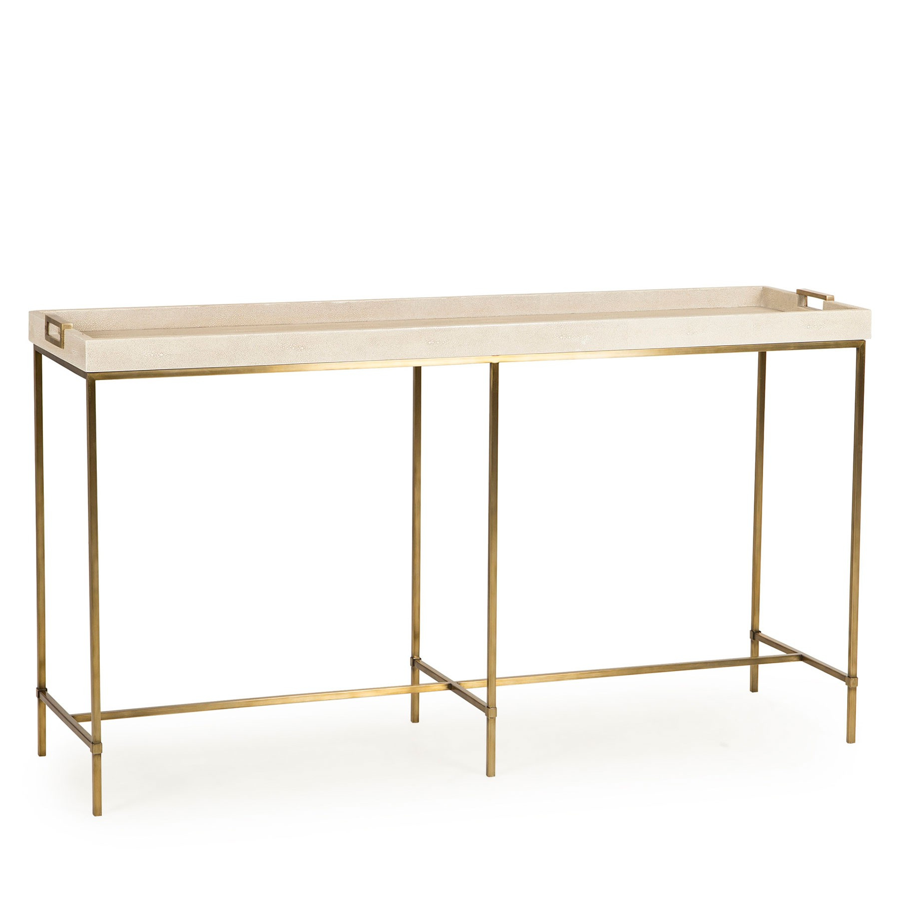 Lexi Tray Console Table – Ivory Shagreen | Resource Decor 0801085 For Faux Shagreen Console Tables (Gallery 19 of 20)