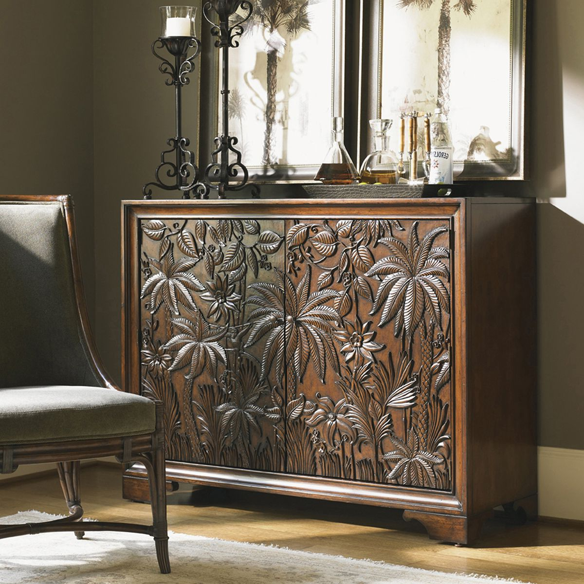 Lexington Landara Balboa Carved Door Chest 545 973 | Tommy Bamaha Pertaining To Balboa Carved Console Tables (Gallery 5 of 20)