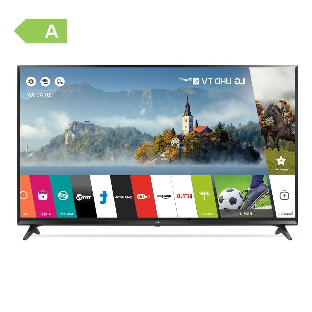 "Lg 55Uk6100 55"" 139 Ekran Uydu Alıcılı 4K Ultra Hd Smart Led Tv En Regarding Ducar 84 Inch Tv Stands (View 10 of 20)"