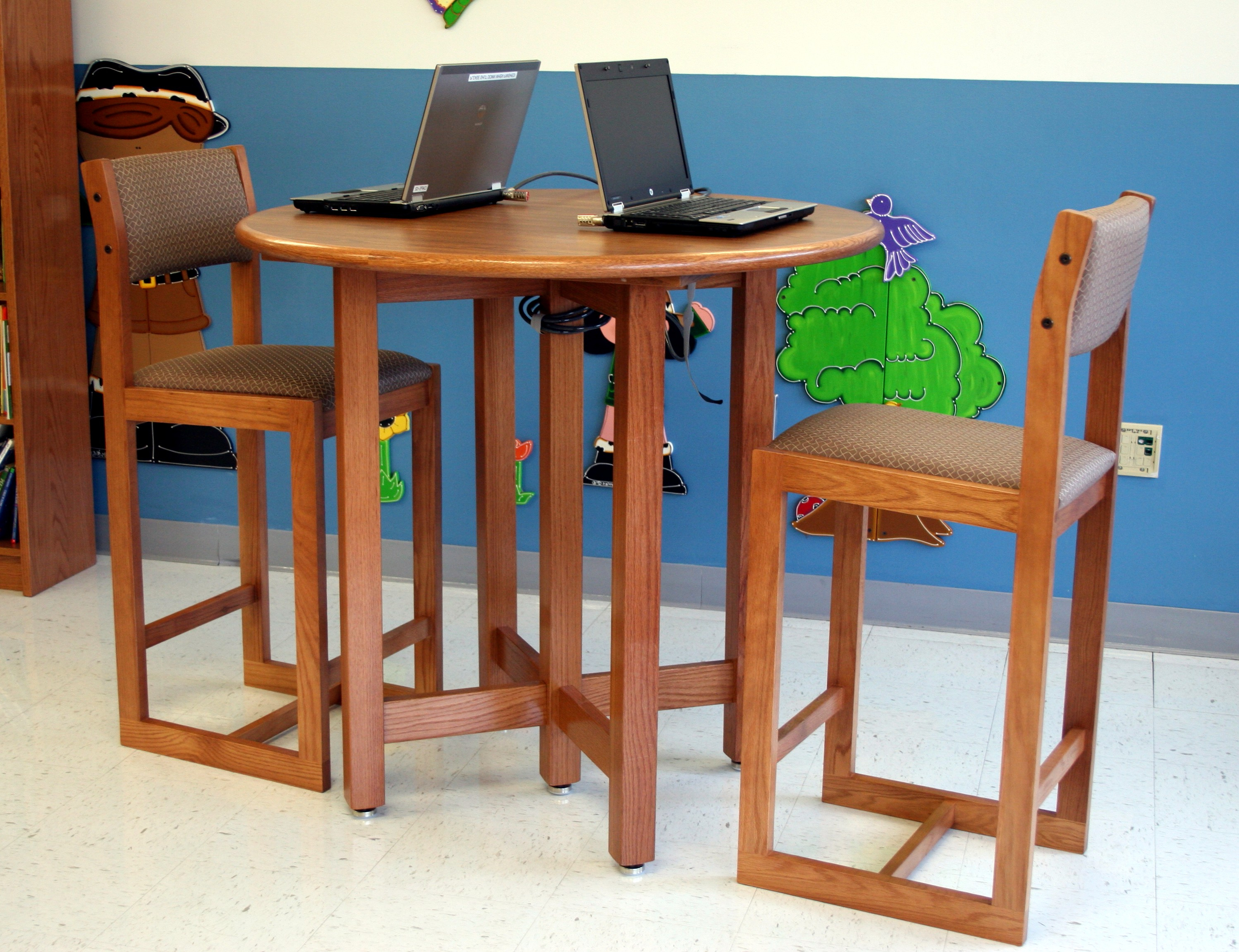 Library Furniture, Shelving & Bookcases | School Furnishings For Chari Media Center Tables (View 6 of 20)