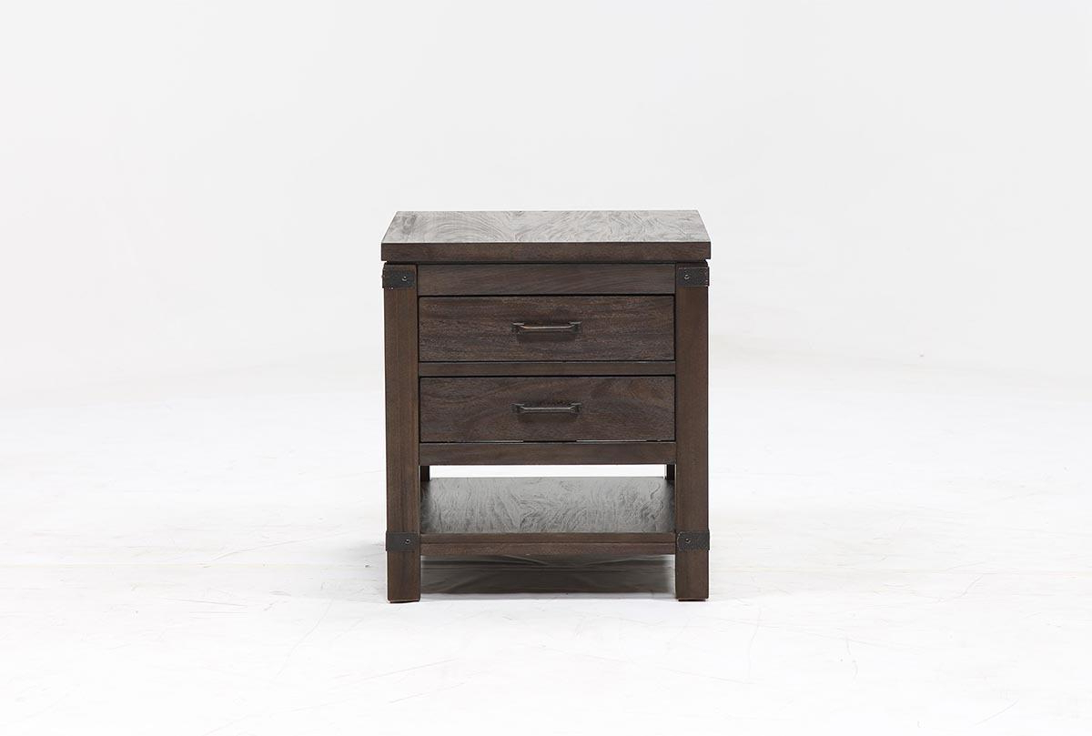 Livingston End Table | Living Spaces For Melrose Titanium 65 Inch Lowboy Tv Stands (View 6 of 18)