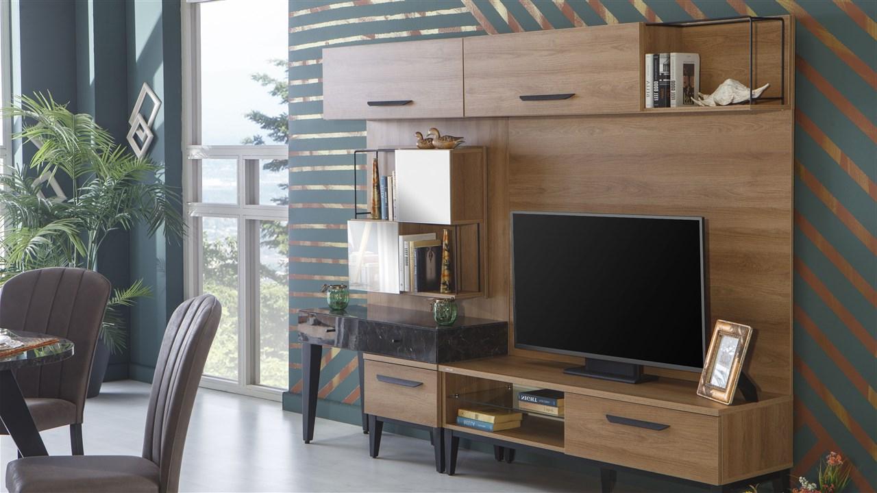 Lofty Duvar Ünitesi Compact Tv Üniteleri Modelleri Ve Fiyatları For Ducar 74 Inch Tv Stands (Gallery 18 of 20)