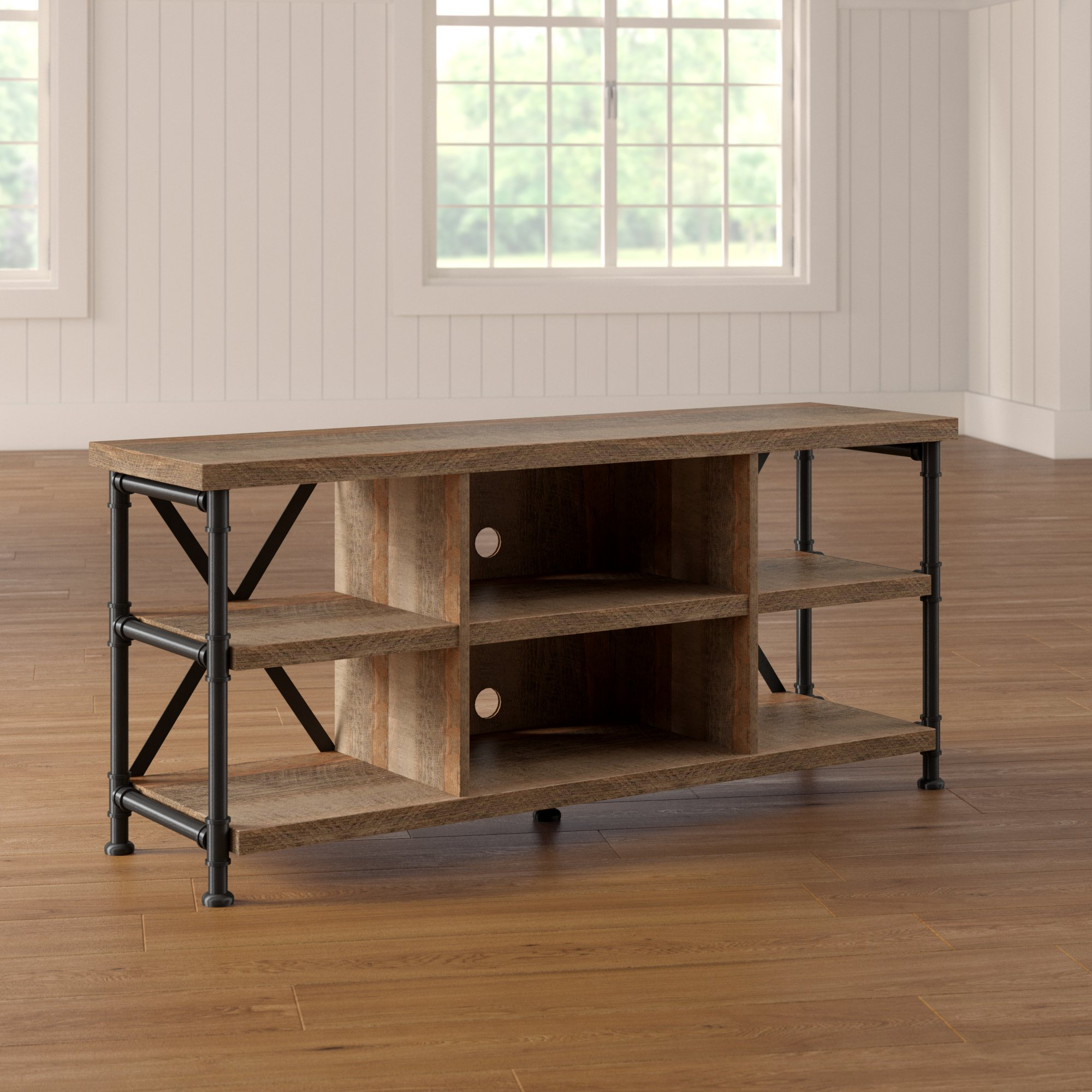 Loon Peak | Wayfair Intended For Marvin Rustic Natural 60 Inch Tv Stands (View 12 of 20)