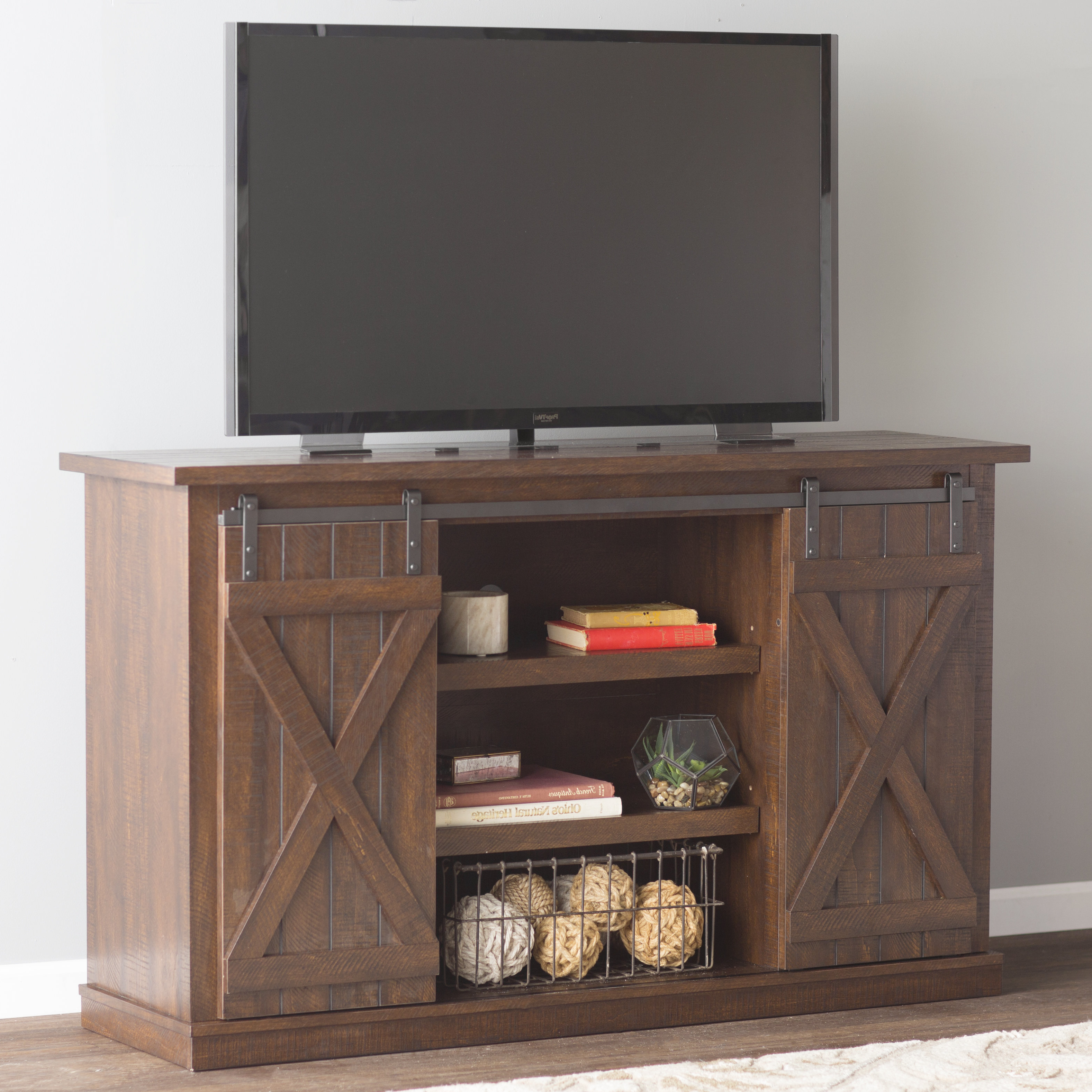 Loon Peak | Wayfair Throughout Marvin Rustic Natural 60 Inch Tv Stands (View 14 of 20)