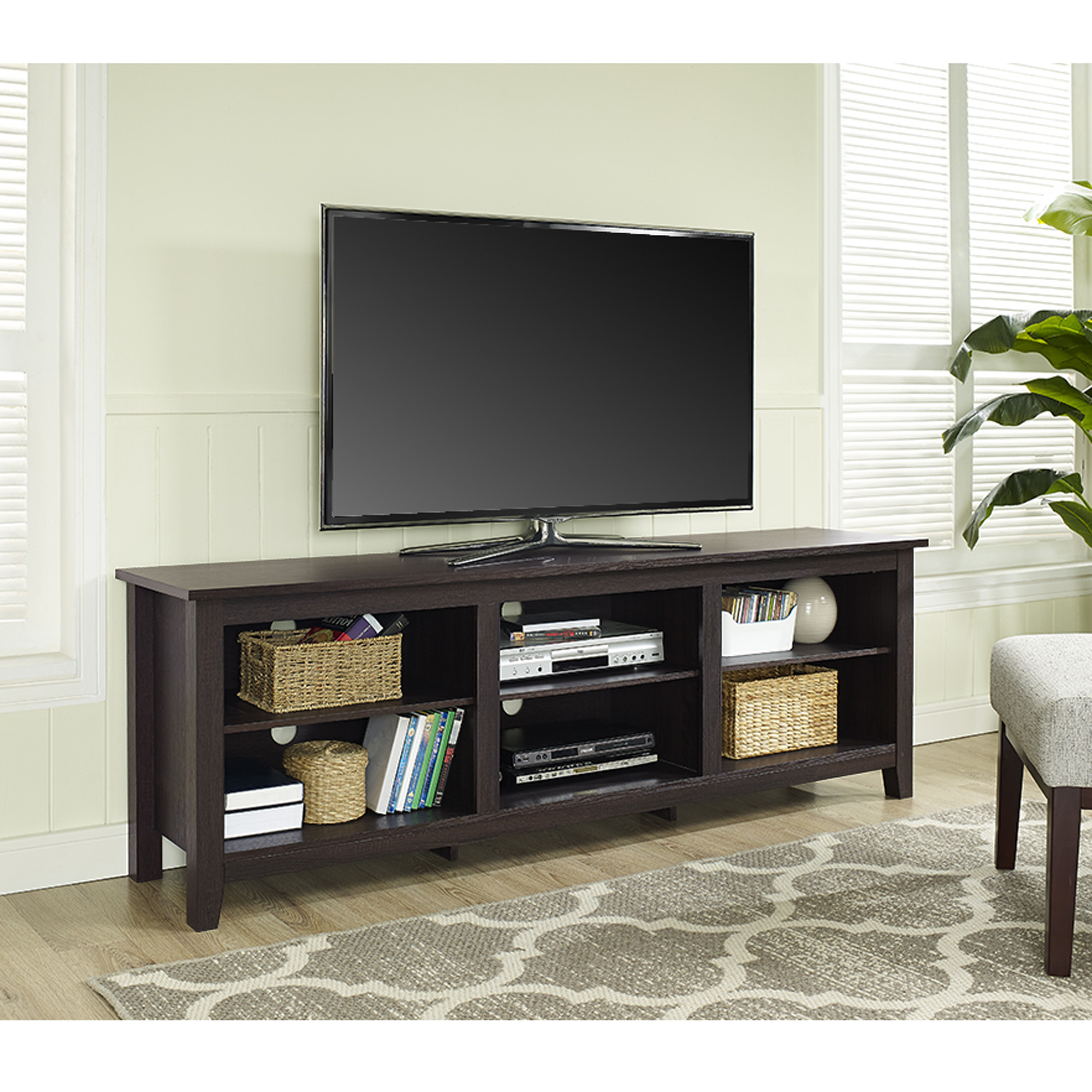 Lovely Wooden Mahogany Cubbies Large And Wide Tv Stand Wooden With Annabelle Cream 70 Inch Tv Stands (View 9 of 20)