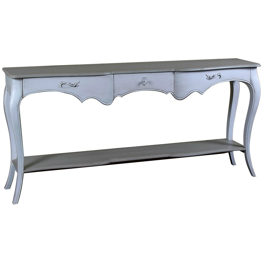 Lyon French Carved Console / Hall Table | French Console Table With Regard To Hand Carved White Wash Console Tables (View 17 of 20)