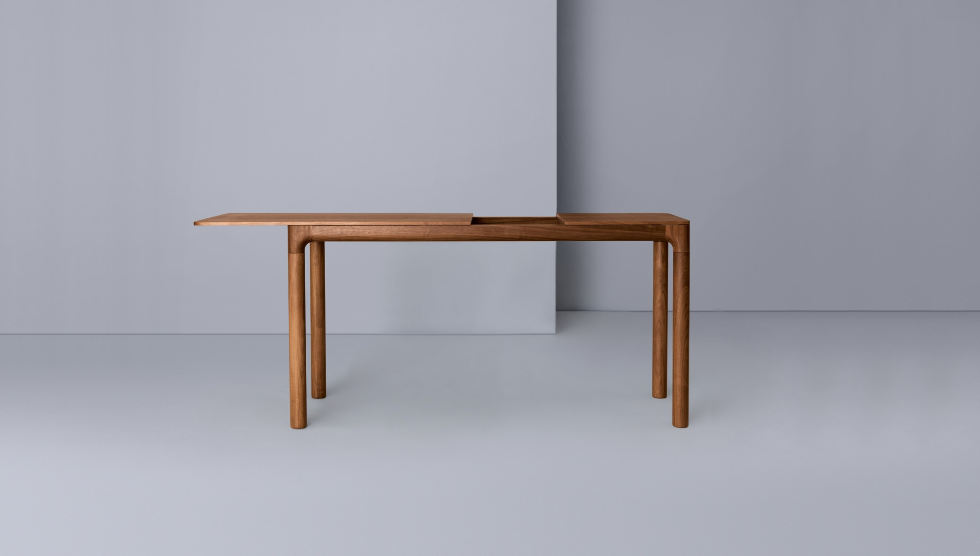 M11 Desk – Zeitraum For Mix Leather Imprint Metal Frame Console Tables (View 3 of 20)