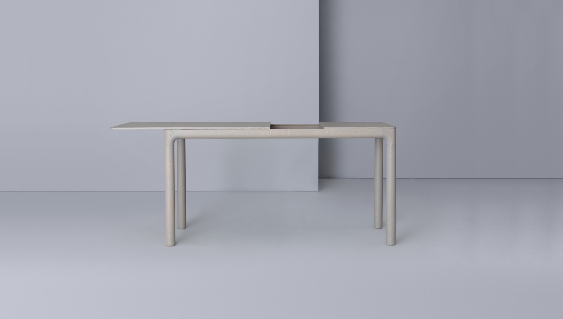 M11 Desk – Zeitraum Pertaining To Mix Leather Imprint Metal Frame Console Tables (View 8 of 20)