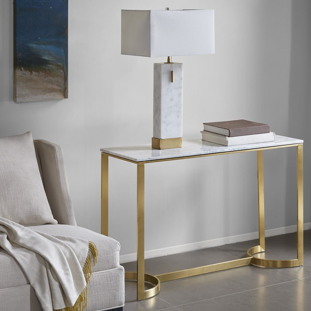 Madison Park Rockport Console Table | Pinterest | Modern Console In Elke Glass Console Tables With Polished Aluminum Base (View 8 of 20)