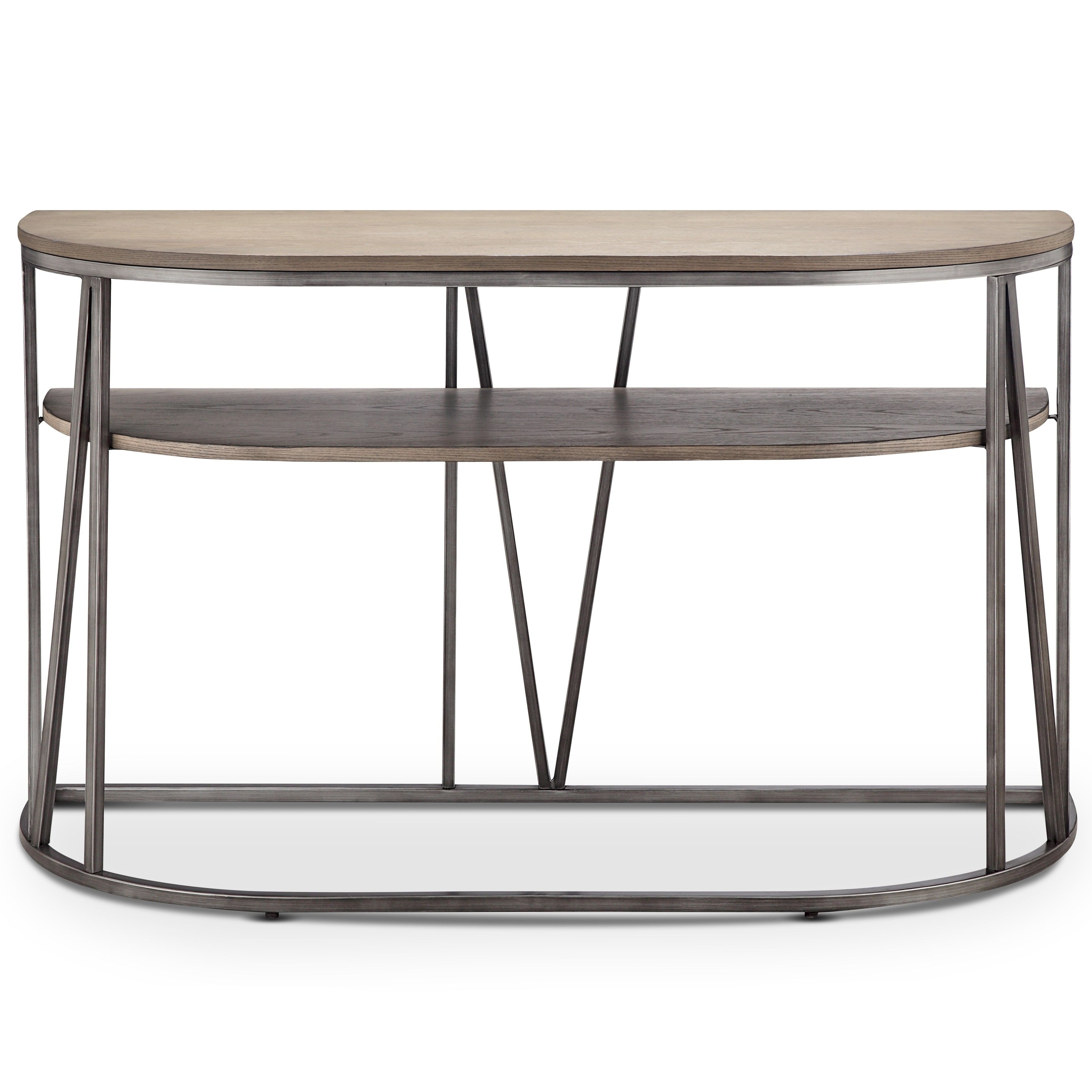 Magnussen Home Furnishings Avalon Modern Weathered White Oak Inside Yukon Grey Console Tables (View 10 of 20)