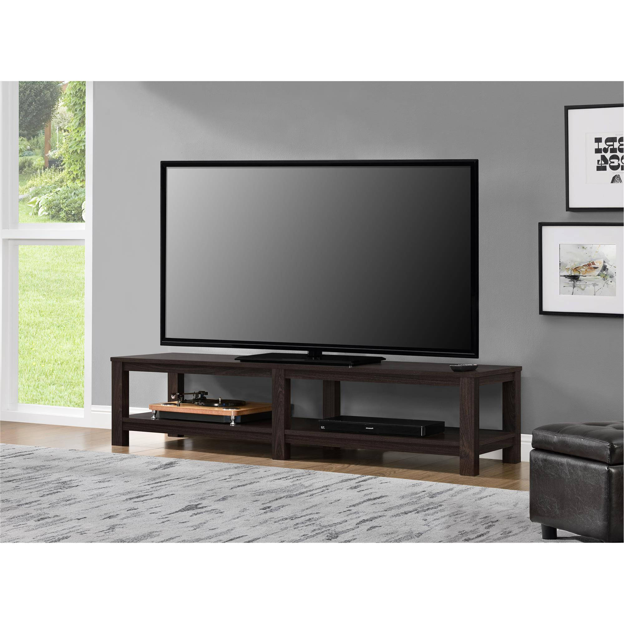 "Mainstays Parsons Tv Stand For Tvs Up To 65"", Multiple Colors Regarding Century Blue 60 Inch Tv Stands (Gallery 6 of 20)"