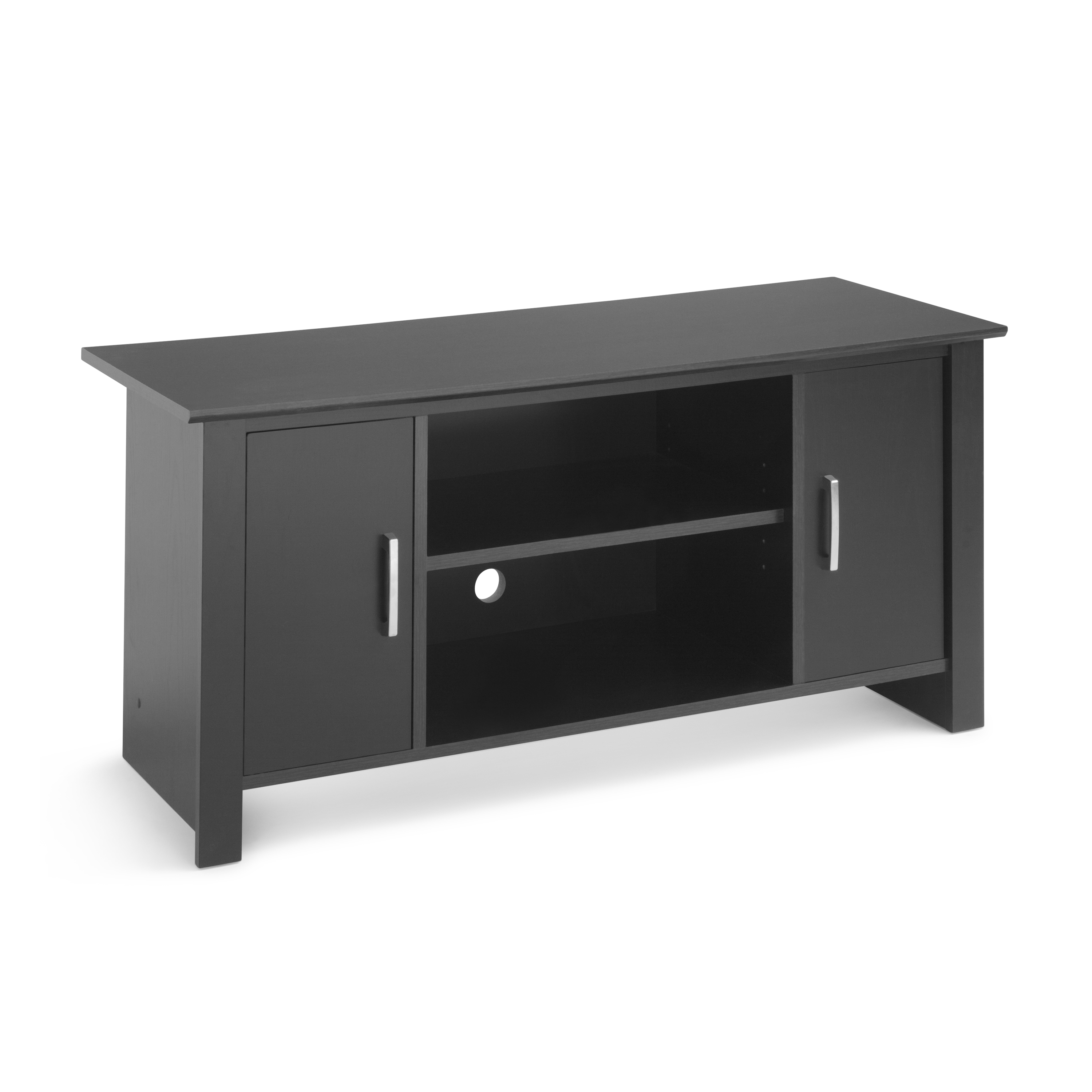 """Mainstays Tv Stand For Flat Screen Tvs Up To 47"""", True Black Oak With Canyon 54 Inch Tv Stands (Gallery 6 of 20)"""