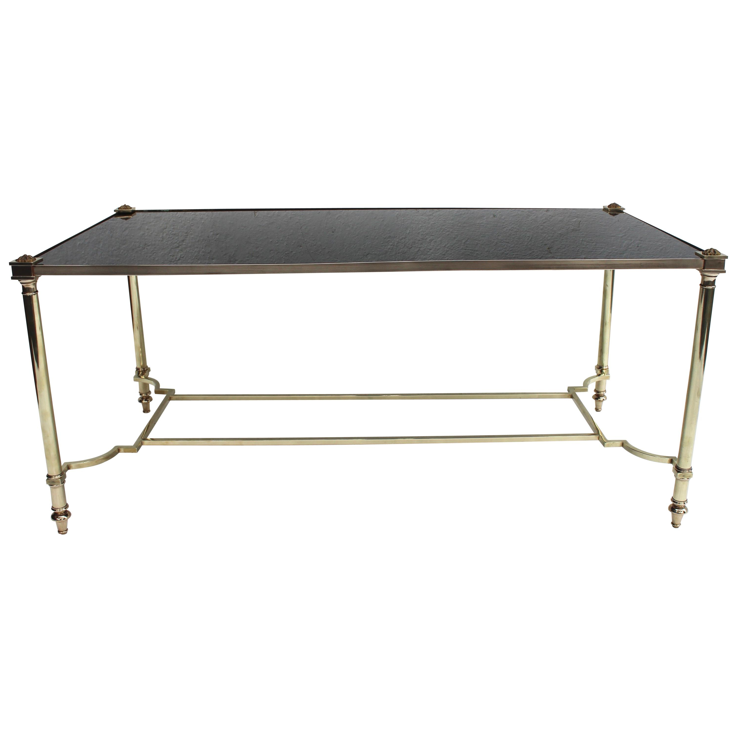 Maison Jansen Furniture – 645 For Sale At 1stdibs With Regard To Mix Leather Imprint Metal Frame Console Tables (View 20 of 20)