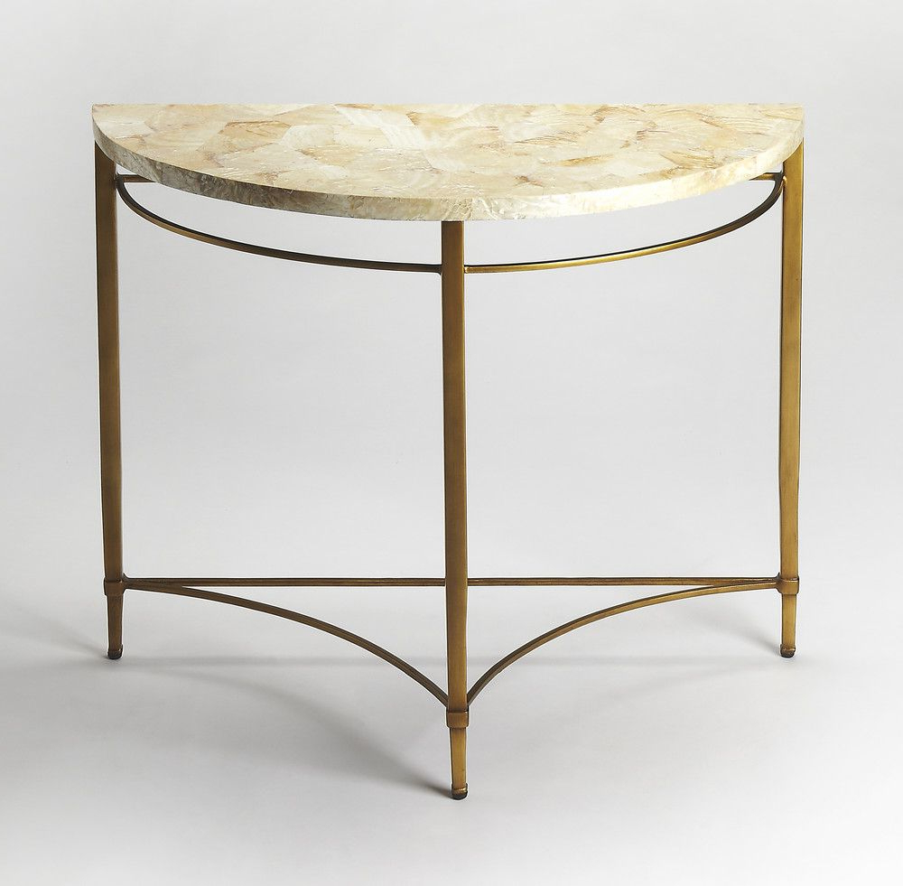 Marlena Cabebe Shell Demilune Console Table | 1651 Entry | Pinterest For Remi Console Tables (View 8 of 20)