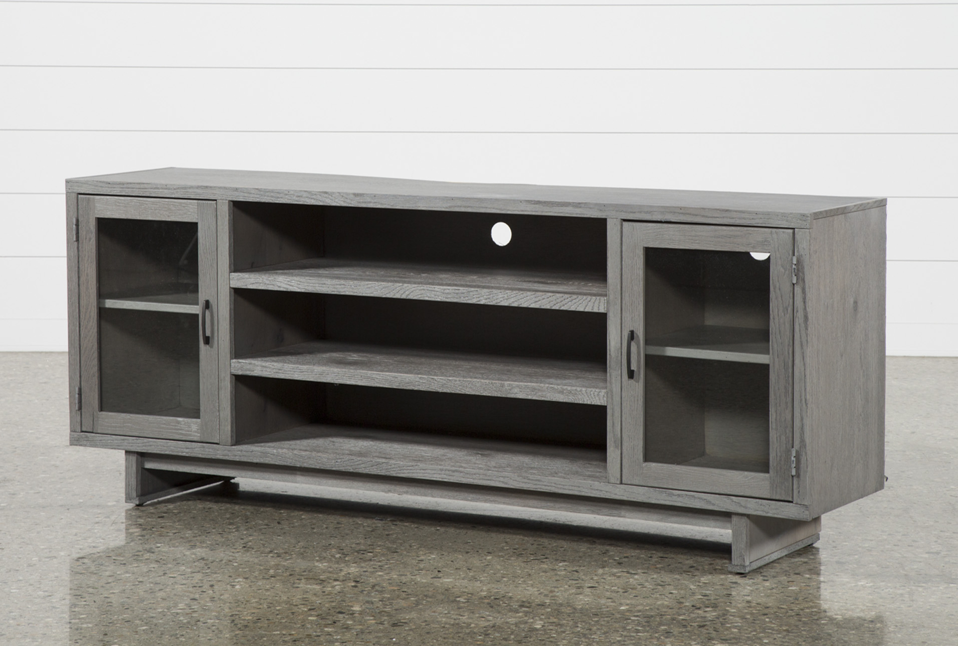 Melrose Titanium 74 Inch Tv Stand, Grey | House | Pinterest With Sinclair Grey 54 Inch Tv Stands (View 5 of 20)