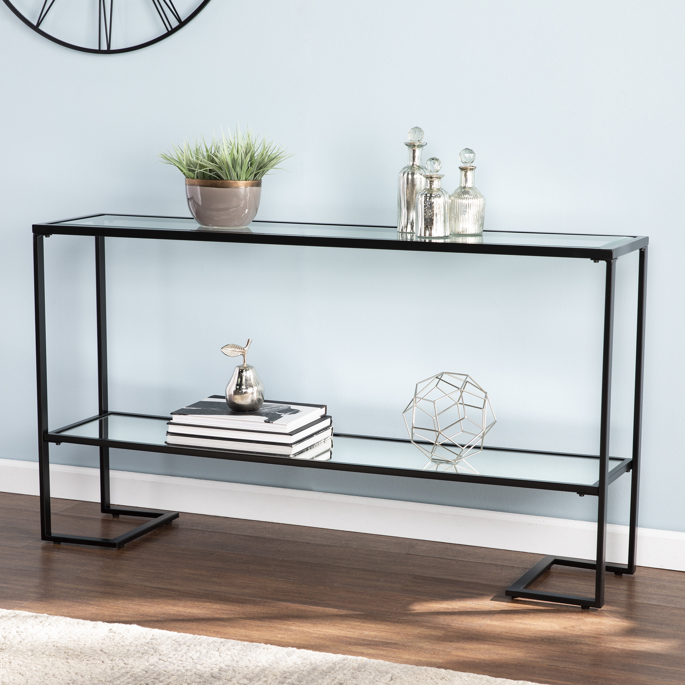 Mercer41 Jai Console Table & Reviews | Wayfair In Phillip Brass Console Tables (View 6 of 20)