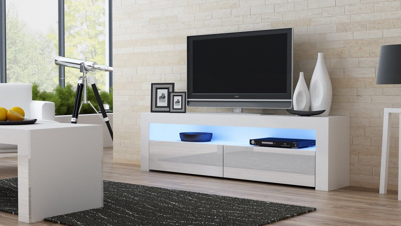 Milano 157 Classic – White Gloss Tv Stand | Tv Stands / Tv Cabinet Within Dixon White 65 Inch Tv Stands (Gallery 4 of 20)