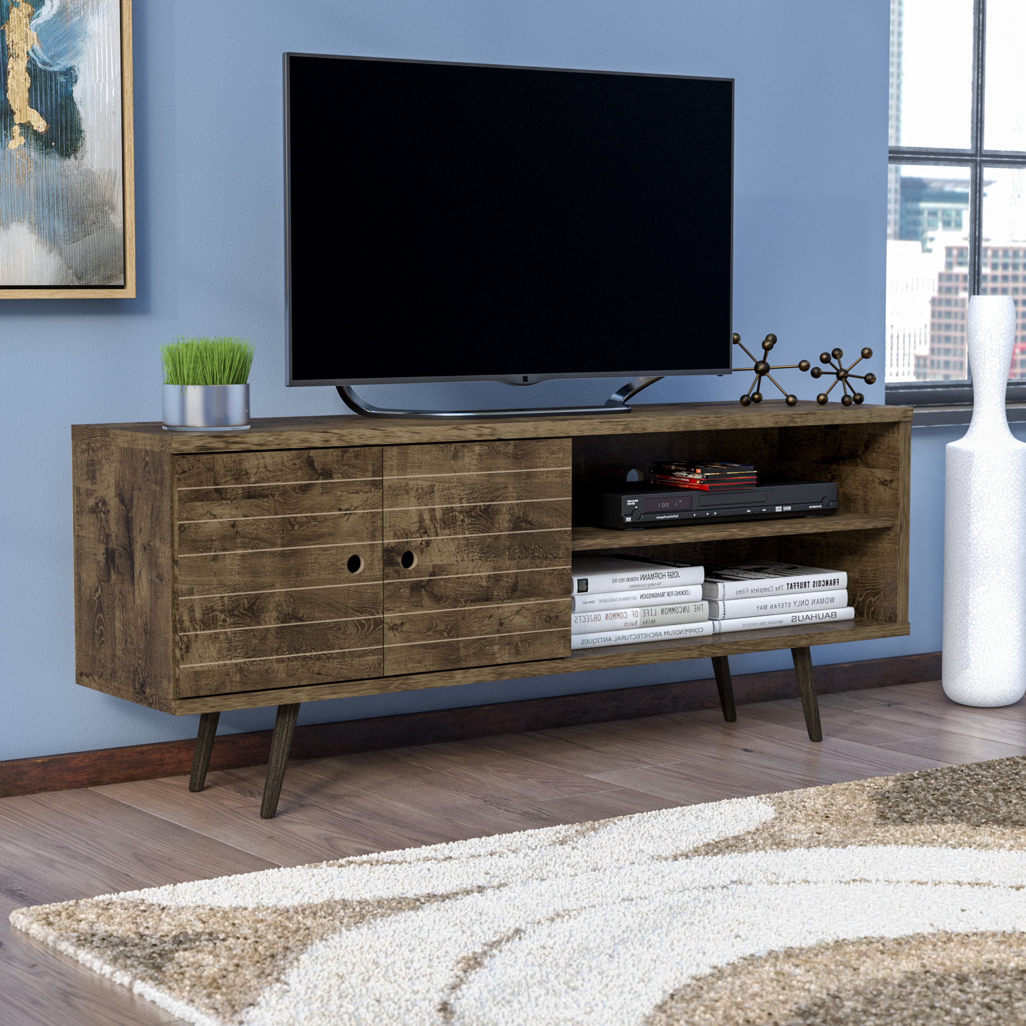 """Mistana Hal Tv Stand For Tvs Up To 60"""" & Reviews 