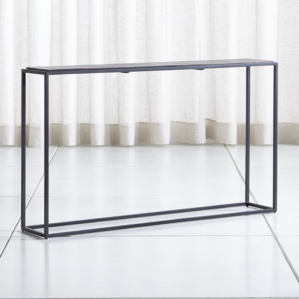Mix Leather Imprint Metal Frame Console Table | Products | Console Within Mix Patina Metal Frame Console Tables (View 11 of 20)