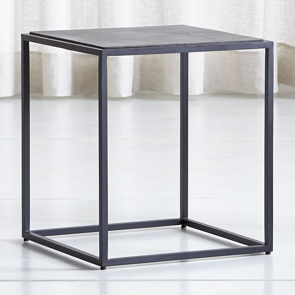 Mix Leather Imprint Tall Metal Frame Side Table | Products | Table In Mix Leather Imprint Metal Frame Console Tables (View 2 of 20)