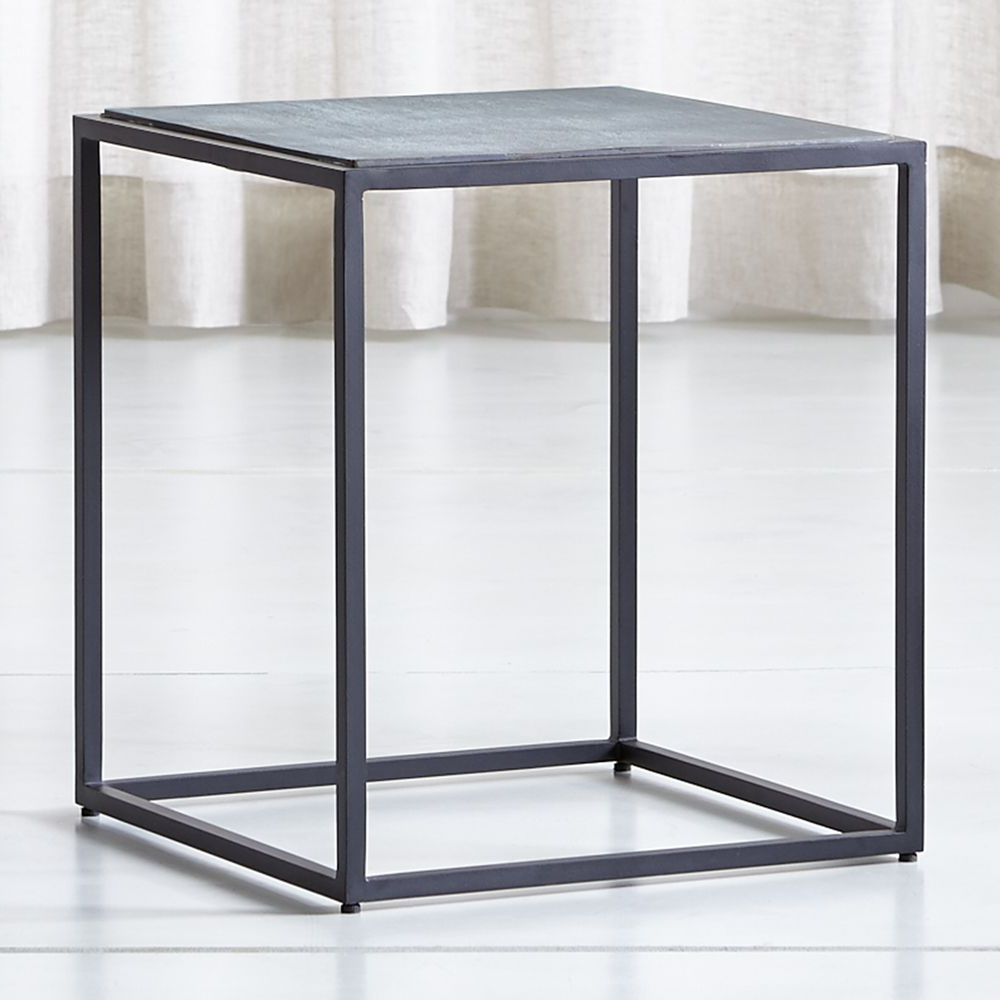 Mix Patina Tall Metal Frame Side Table In 2018 | Products With Regard To Mix Agate Metal Frame Console Tables (Gallery 1 of 20)