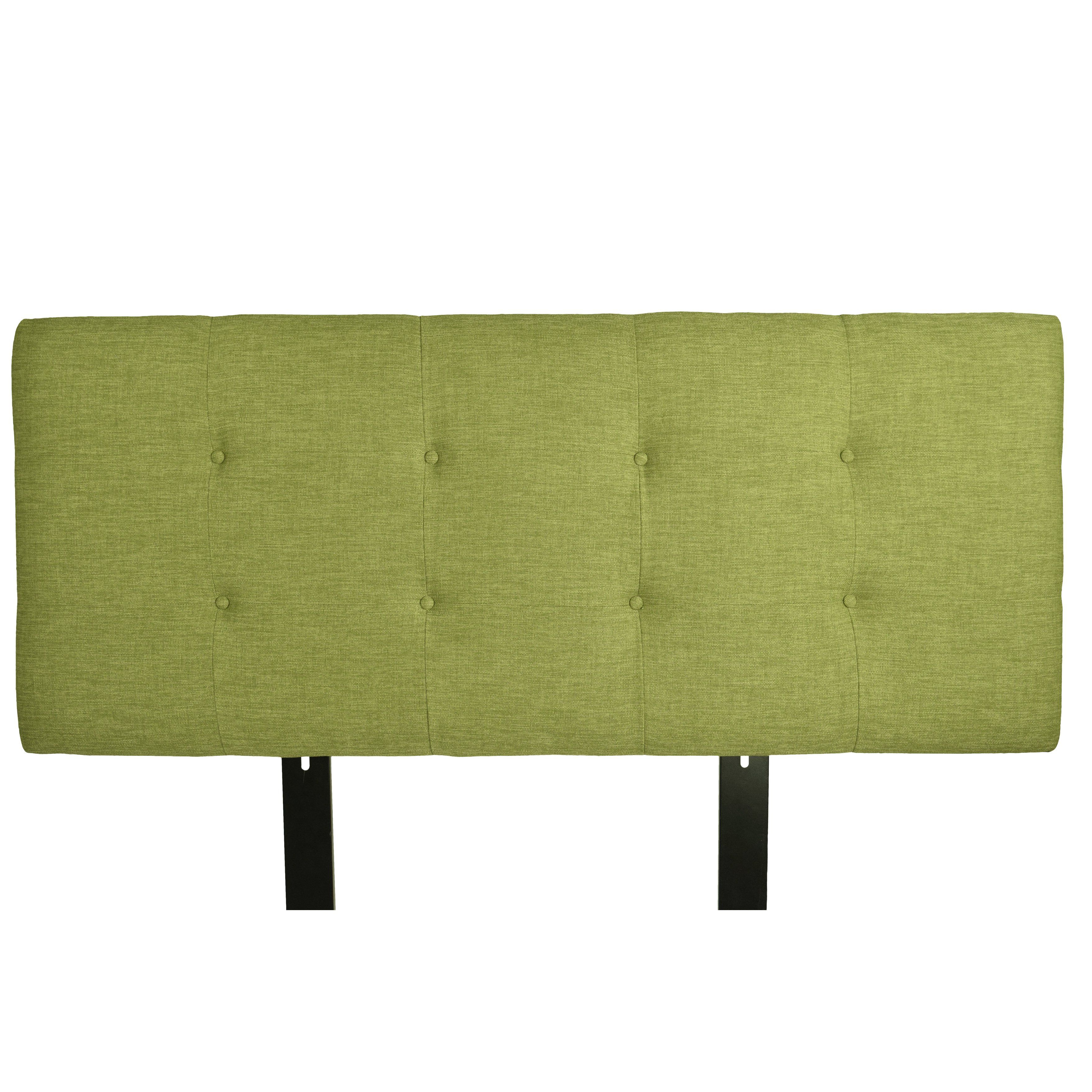 Mjl Furniture Ali Button Tufted Key Largo Grass Upholstered Within Parsons Concrete Top & Elm Base 48X16 Console Tables (View 10 of 20)