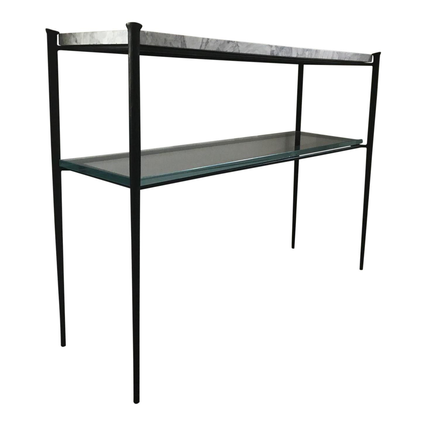 Modern Minimalist Console Table | Modern Minimalist, Console Tables In Parsons Walnut Top & Brass Base 48x16 Console Tables (View 11 of 20)