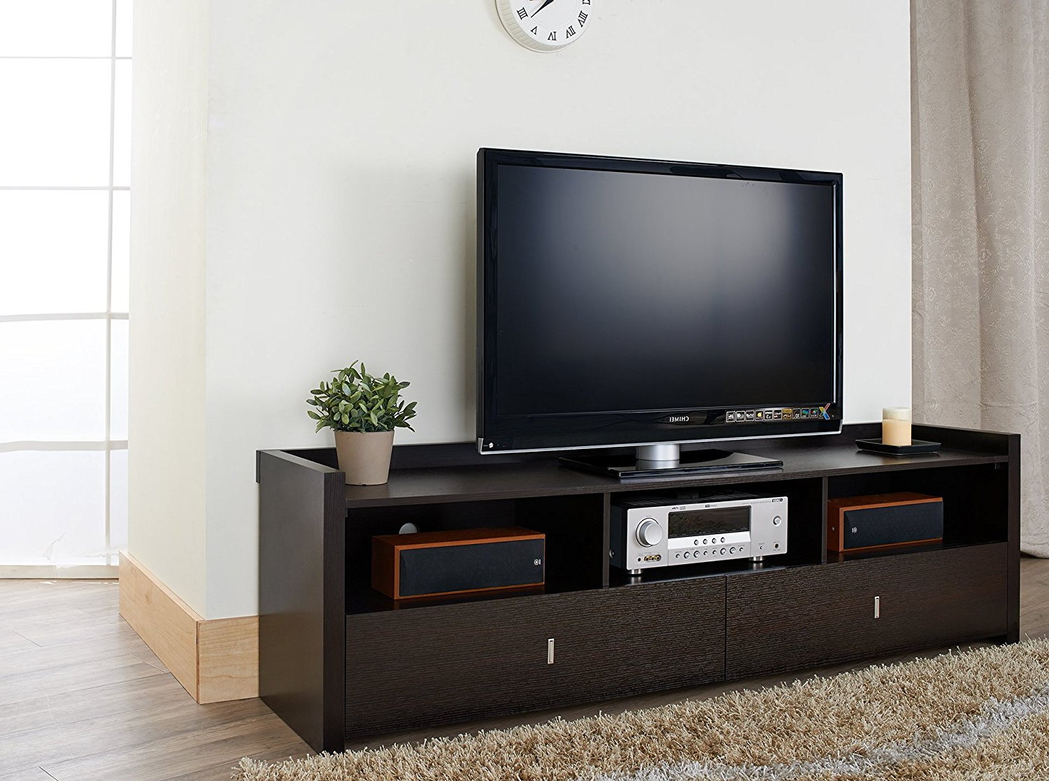 Modern Tv Stand Ikea Hemnes Entertainment Wall Units With Fireplace Inside Forma 65 Inch Tv Stands (Gallery 11 of 20)