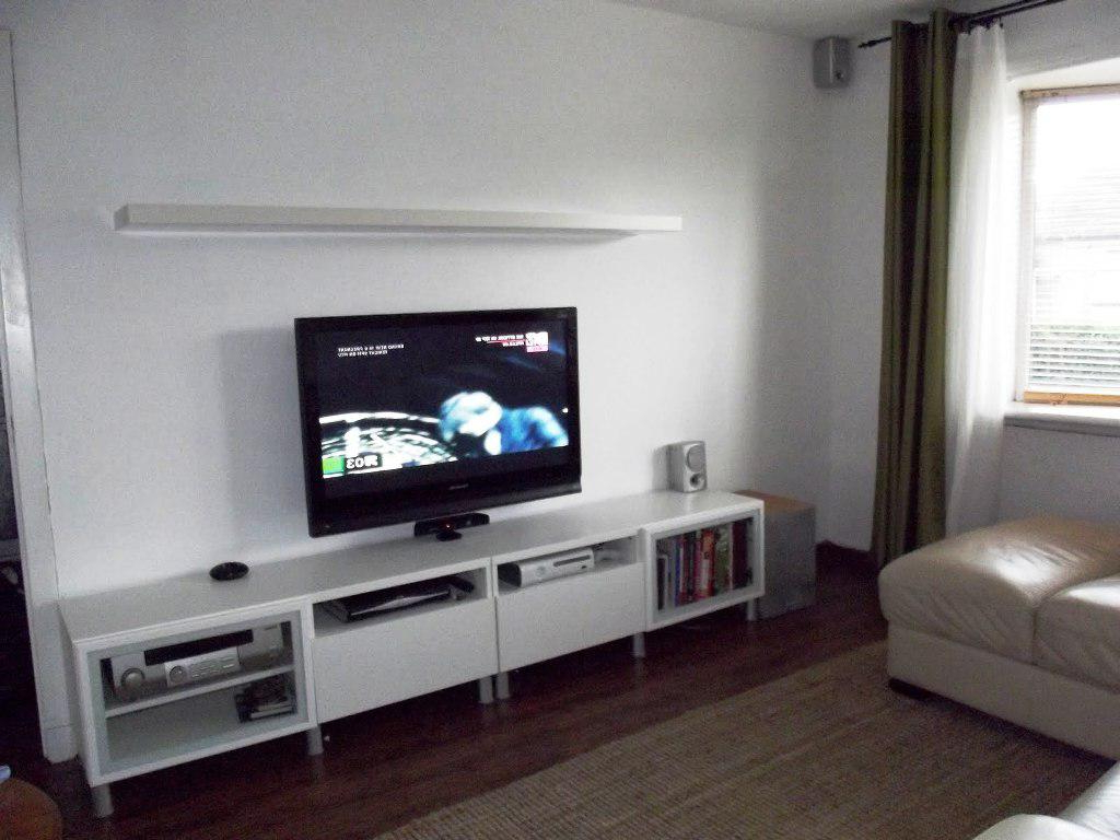 Modern Tv Stand Ikea Hemnes Entertainment Wall Units With Fireplace Within Forma 65 Inch Tv Stands (View 15 of 20)