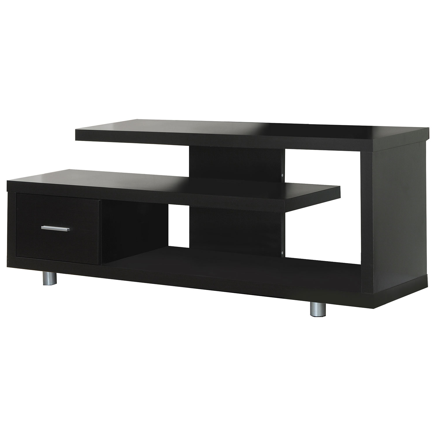 "Monarch Open Tv Stand For Tvs Up To 60"" (I 2572) – Cappuccino : Tv With Valencia 60 Inch Tv Stands (Gallery 18 of 20)"