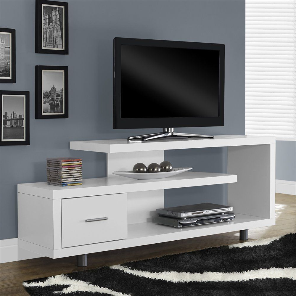 Monarch Specialties I 257 Hollow Core Tv Console | Atg Stores | Tv Inside Kenzie 60 Inch Open Display Tv Stands (View 18 of 20)