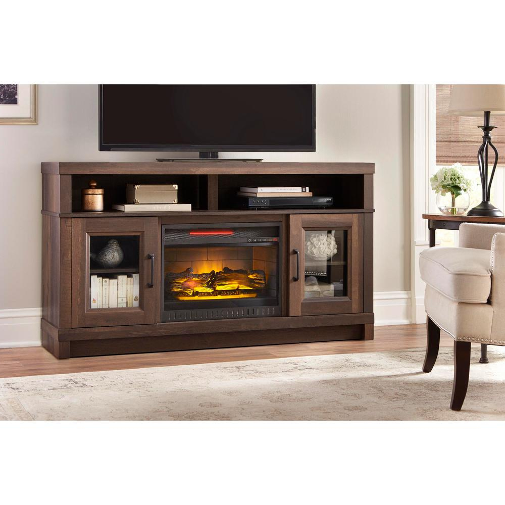 Muskoka Sinclair 60 In. Bluetooth Media Electric Fireplace Tv Stand Intended For Sinclair Blue 64 Inch Tv Stands (Gallery 12 of 20)