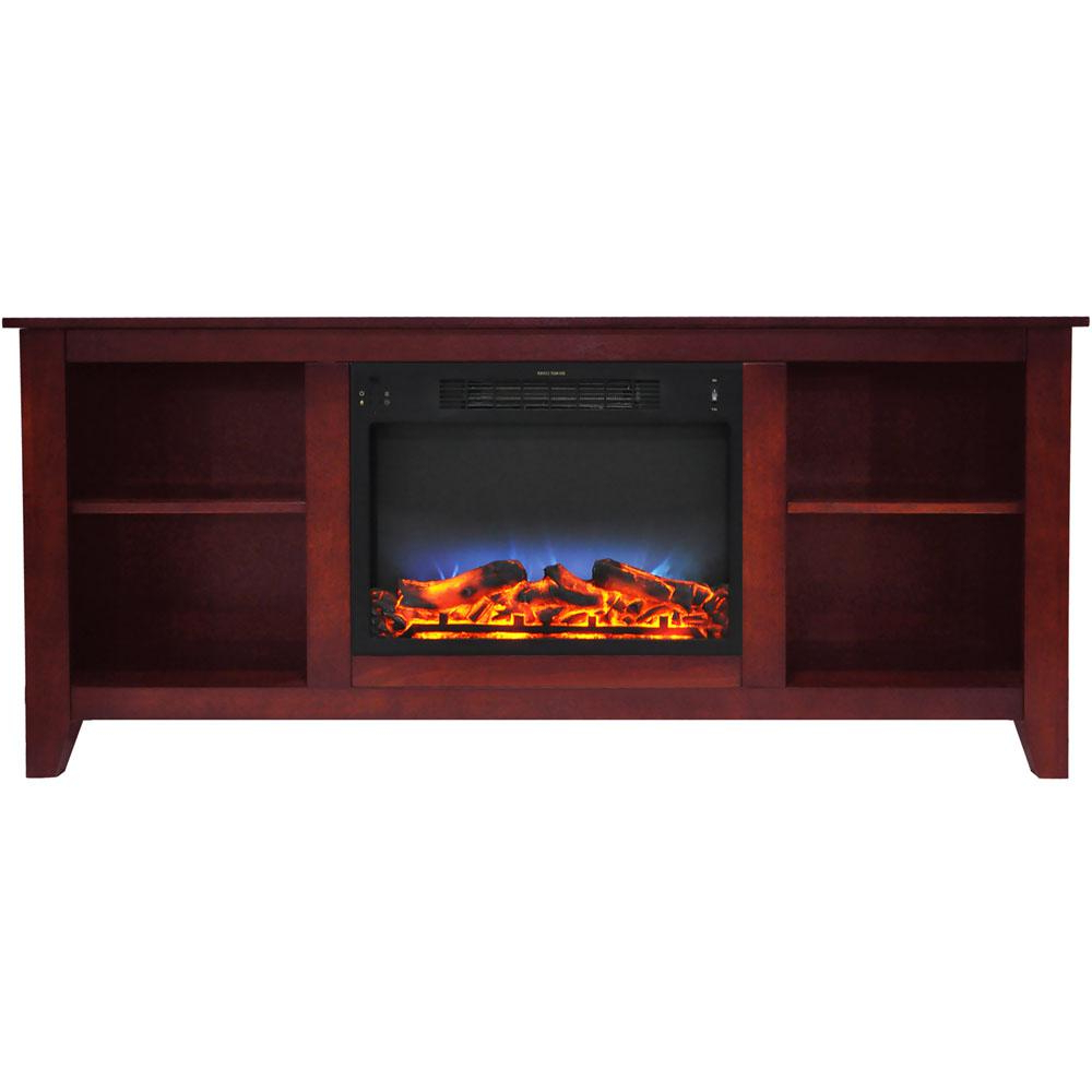 Muskoka Sinclair 60 In. Bluetooth Media Electric Fireplace Tv Stand With Regard To Sinclair Blue 64 Inch Tv Stands (Gallery 17 of 20)