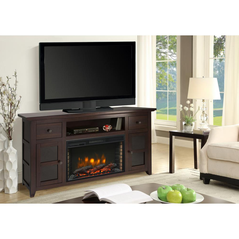 Muskoka Winchester 56 In. Freestanding Electric Fireplace Tv Stand With Canyon 54 Inch Tv Stands (Gallery 7 of 20)