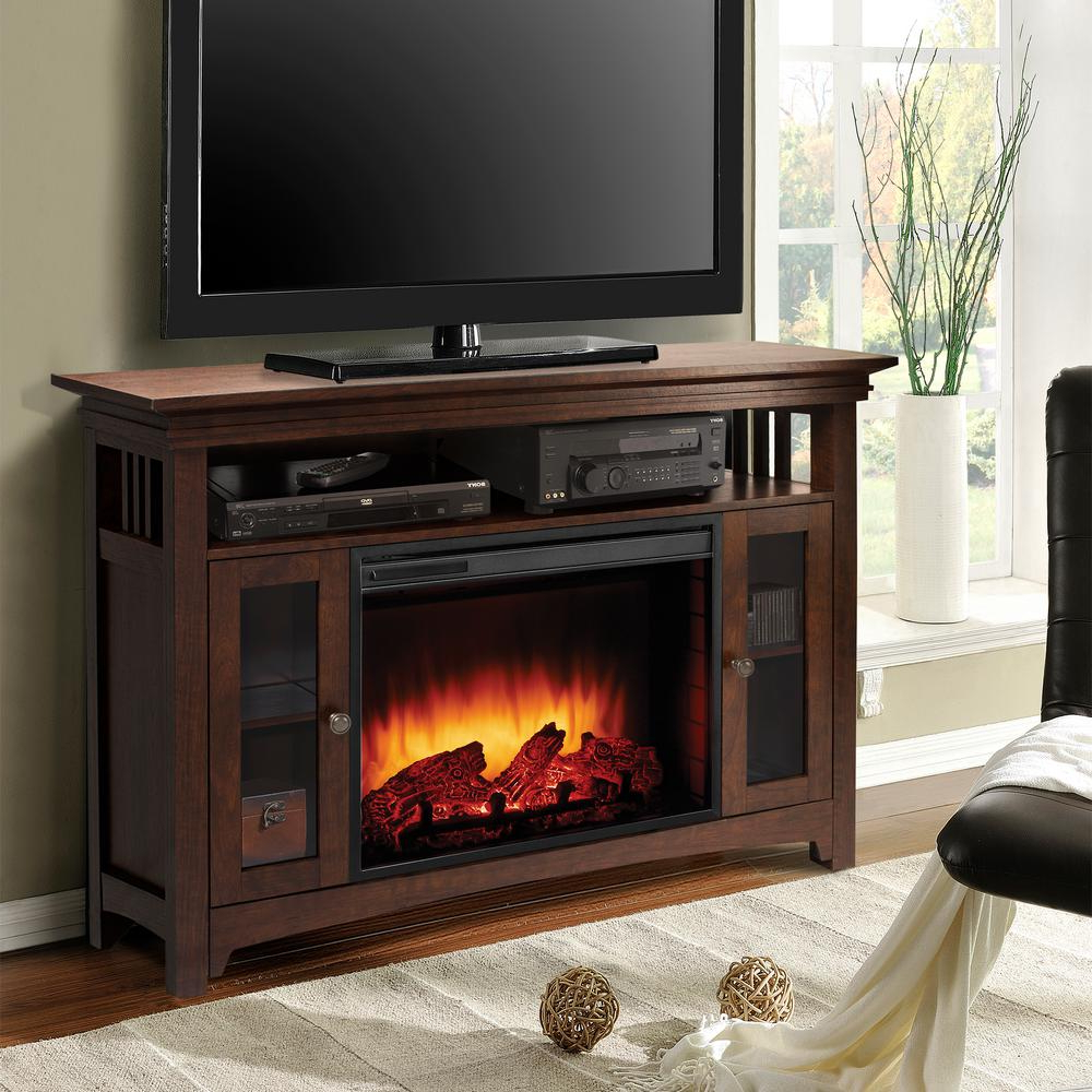 Muskoka Wyatt 48 In. Freestanding Electric Fireplace Tv Stand In Throughout Wyatt 68 Inch Tv Stands (Gallery 6 of 20)