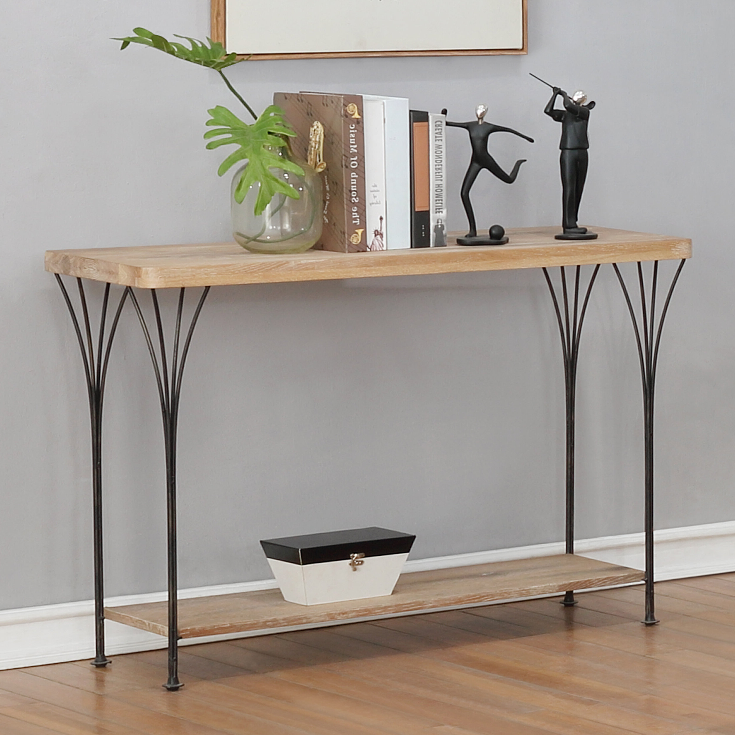 Narrow Media Console Table | Wayfair (View 10 of 20)