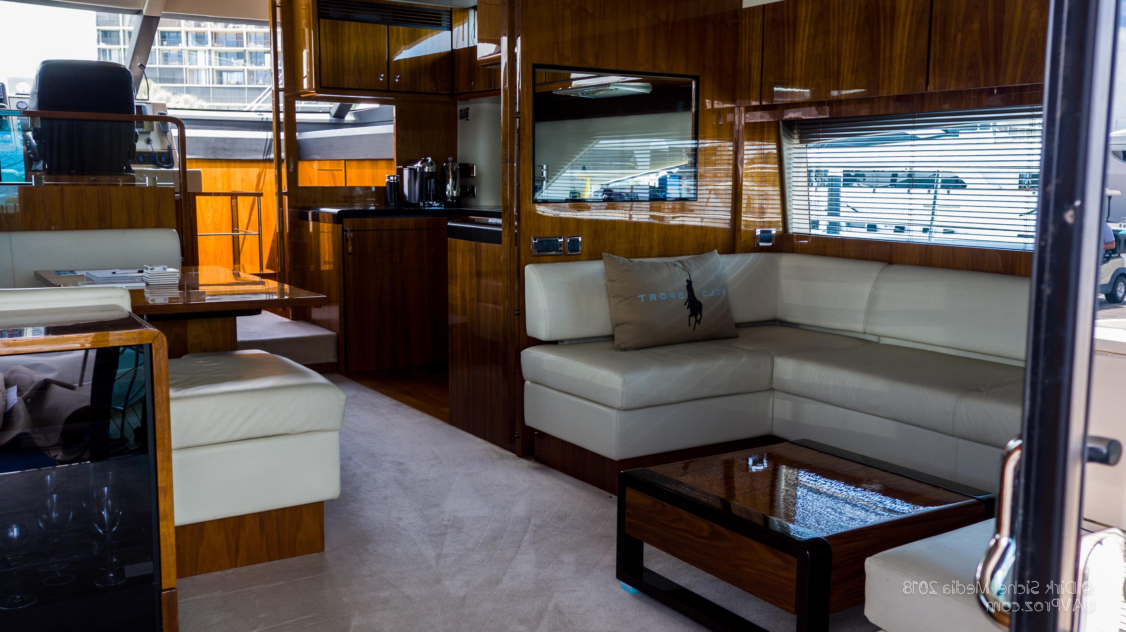 Nauti Buoy's Fairline 2012 Squadron 65 65 Yacht For Sale In Us Inside Mikelson Media Console Tables (View 13 of 20)