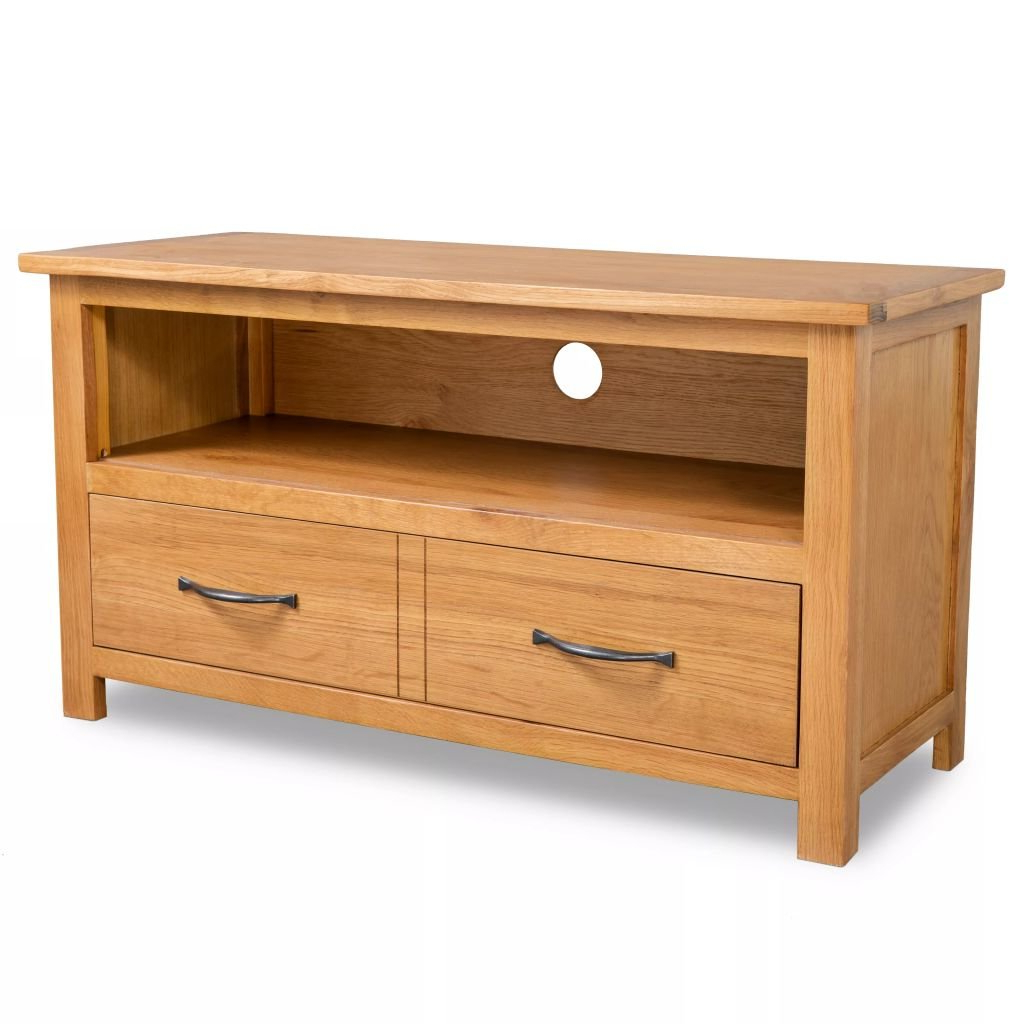 Oak Tv Stands & Entertainment Units You'll Love | Wayfair.co (View 9 of 20)