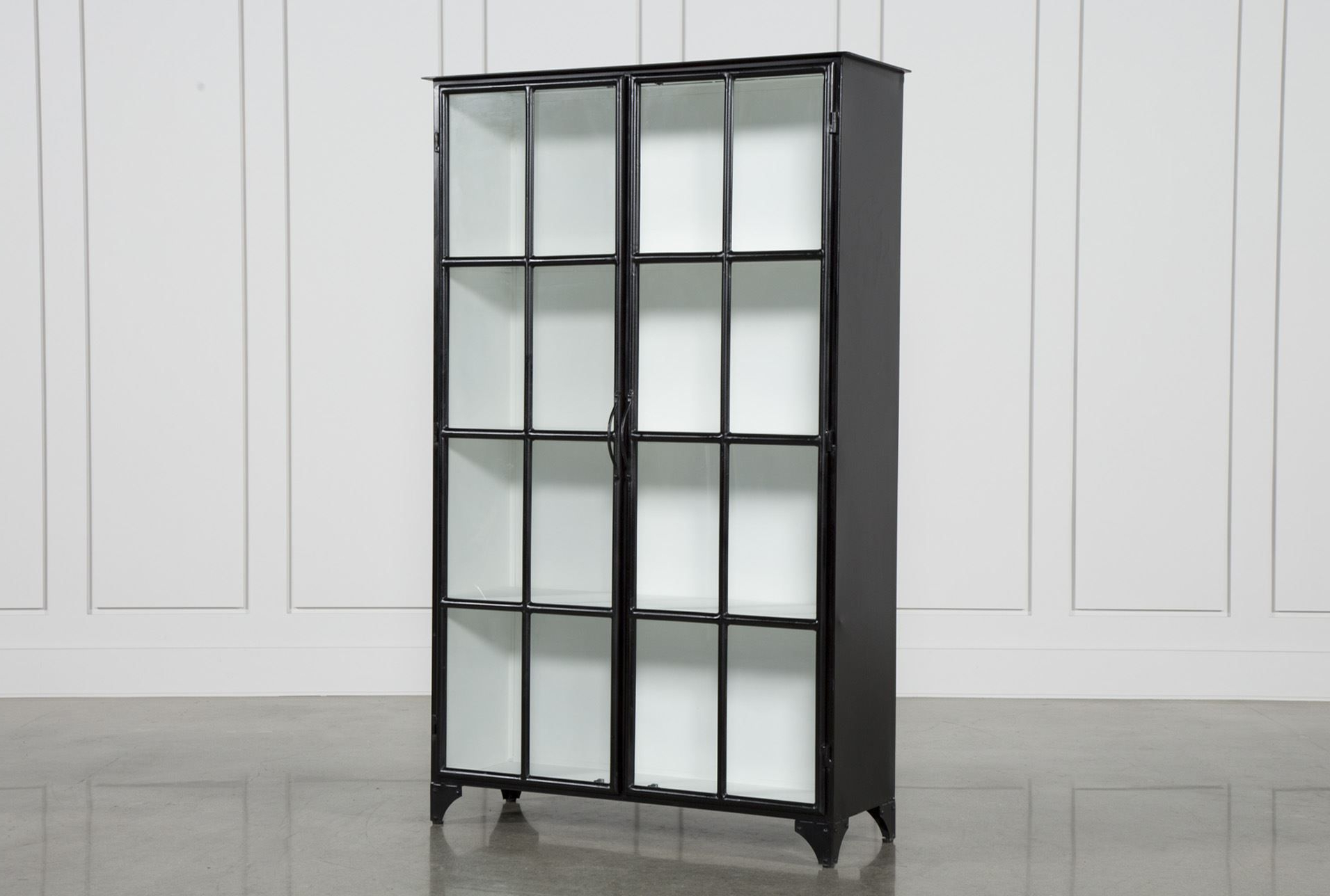 Otb Satin Black & Painted White Cabinet | White Cabinets Pertaining To Mikelson Media Console Tables (View 4 of 20)