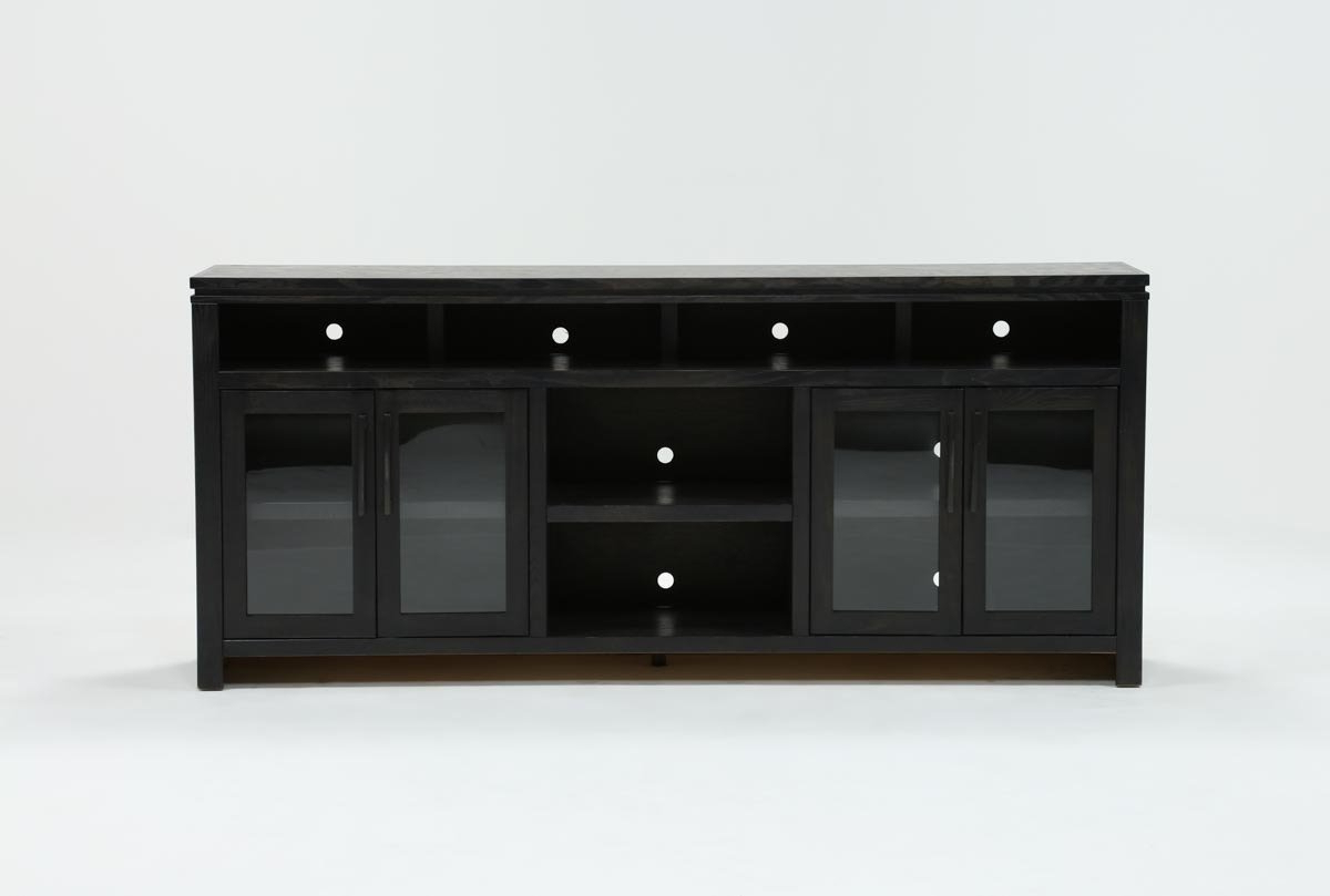 Oxford 84 Inch Tv Stand | Living Spaces Within Ducar 74 Inch Tv Stands (View 13 of 20)