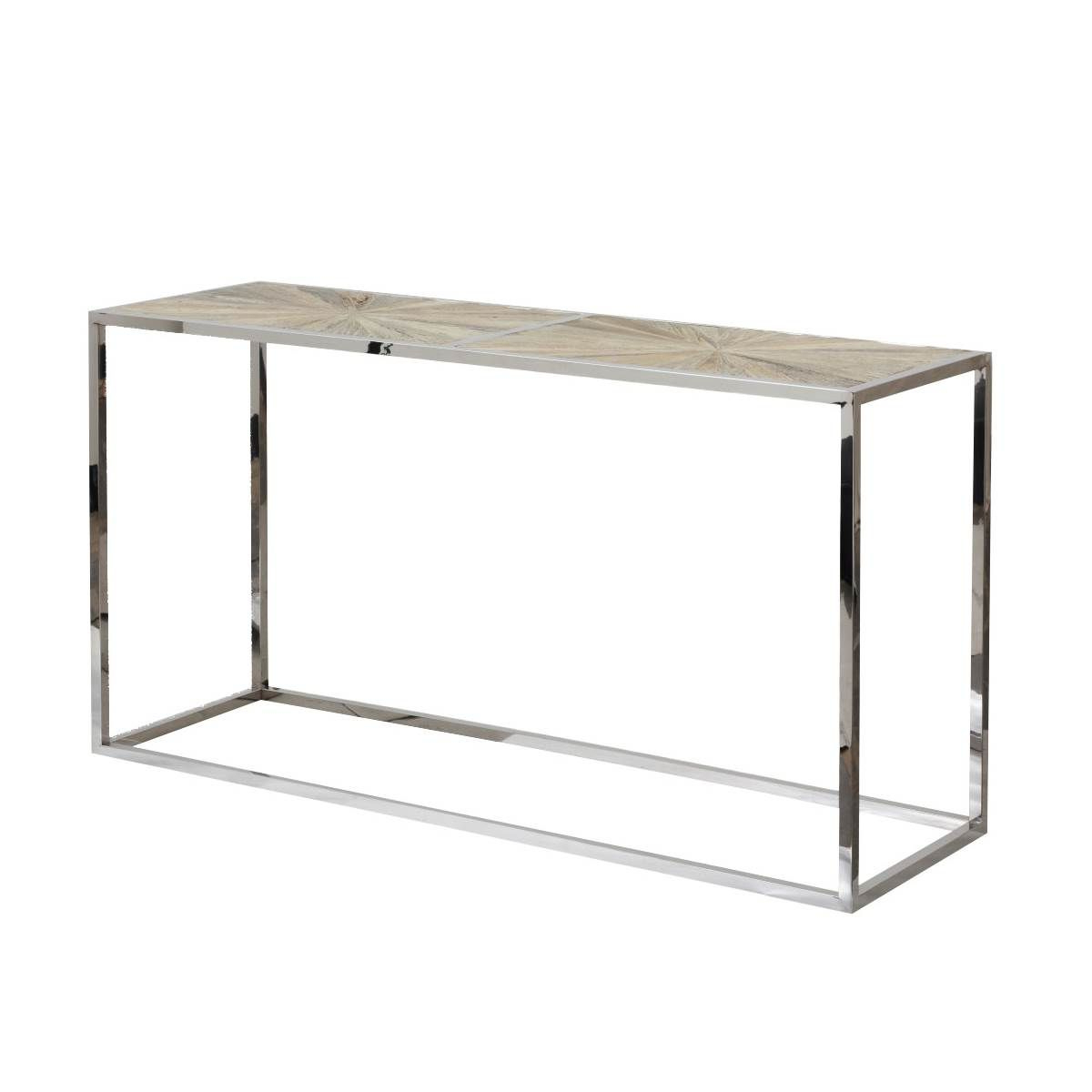 Parquet Console Table | Marshall | Pinterest Throughout Parsons Concrete Top & Stainless Steel Base 48X16 Console Tables (View 17 of 20)