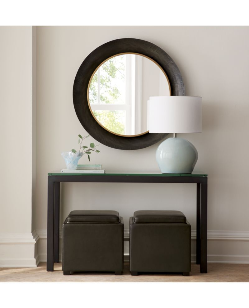 Parsons Clear Glass Top/ Dark Steel Base 48X16 Console In 2019 In Parsons Clear Glass Top & Dark Steel Base 48X16 Console Tables (Gallery 2 of 20)