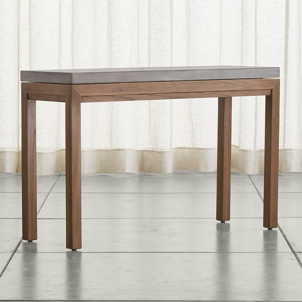 Parsons Concrete Top/ Elm Base 48x16 Console | Products | Console For Parsons Travertine Top & Brass Base 48x16 Console Tables (View 11 of 20)