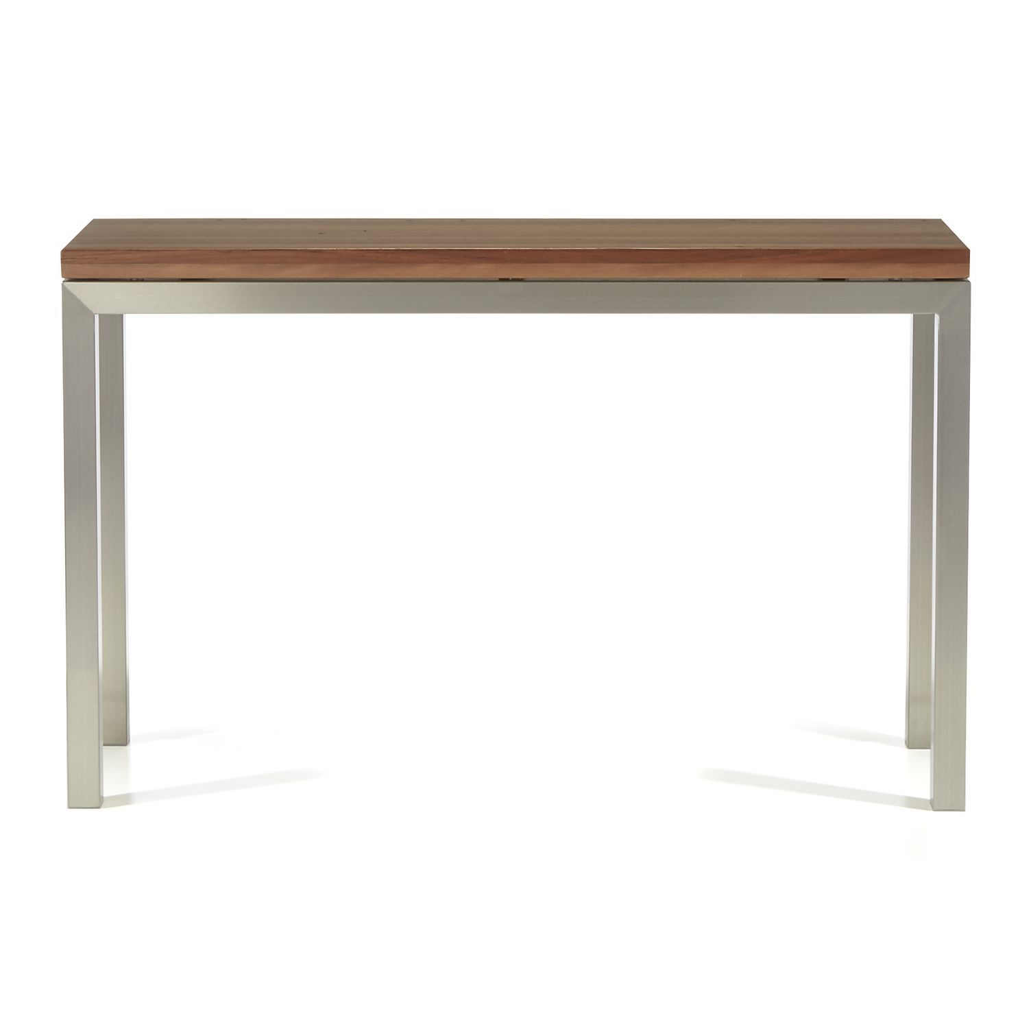 Parsons Reclaimed Wood Top/ Stainless Steel Base 48x16 Console Inside Parsons Concrete Top & Dark Steel Base 48x16 Console Tables (View 20 of 20)