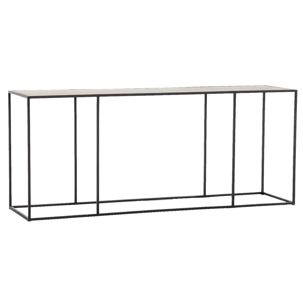 Phillip Antiqued Copper Clad Industrial Console Table 70 In Silviano 84 Inch Console Tables (View 13 of 20)