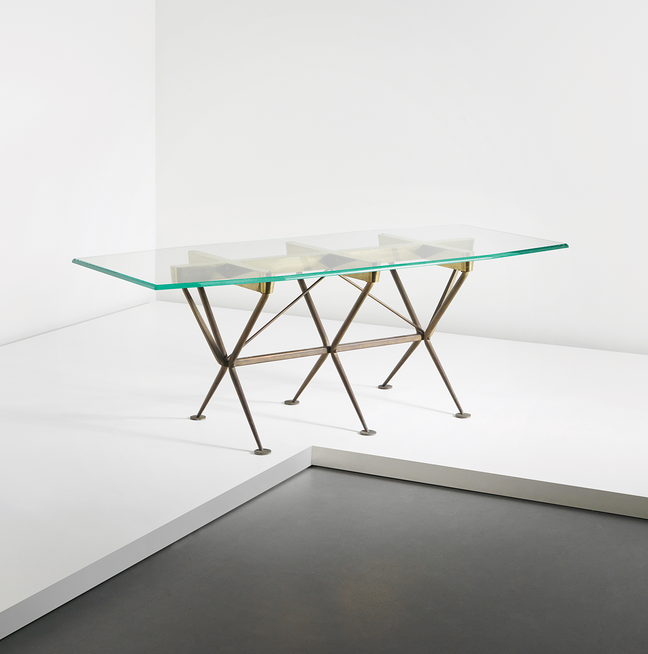 Phillips : Uk050213, Alberto Rosselli, Rare Dining Table | Furniture In Phillip Brass Console Tables (View 12 of 20)