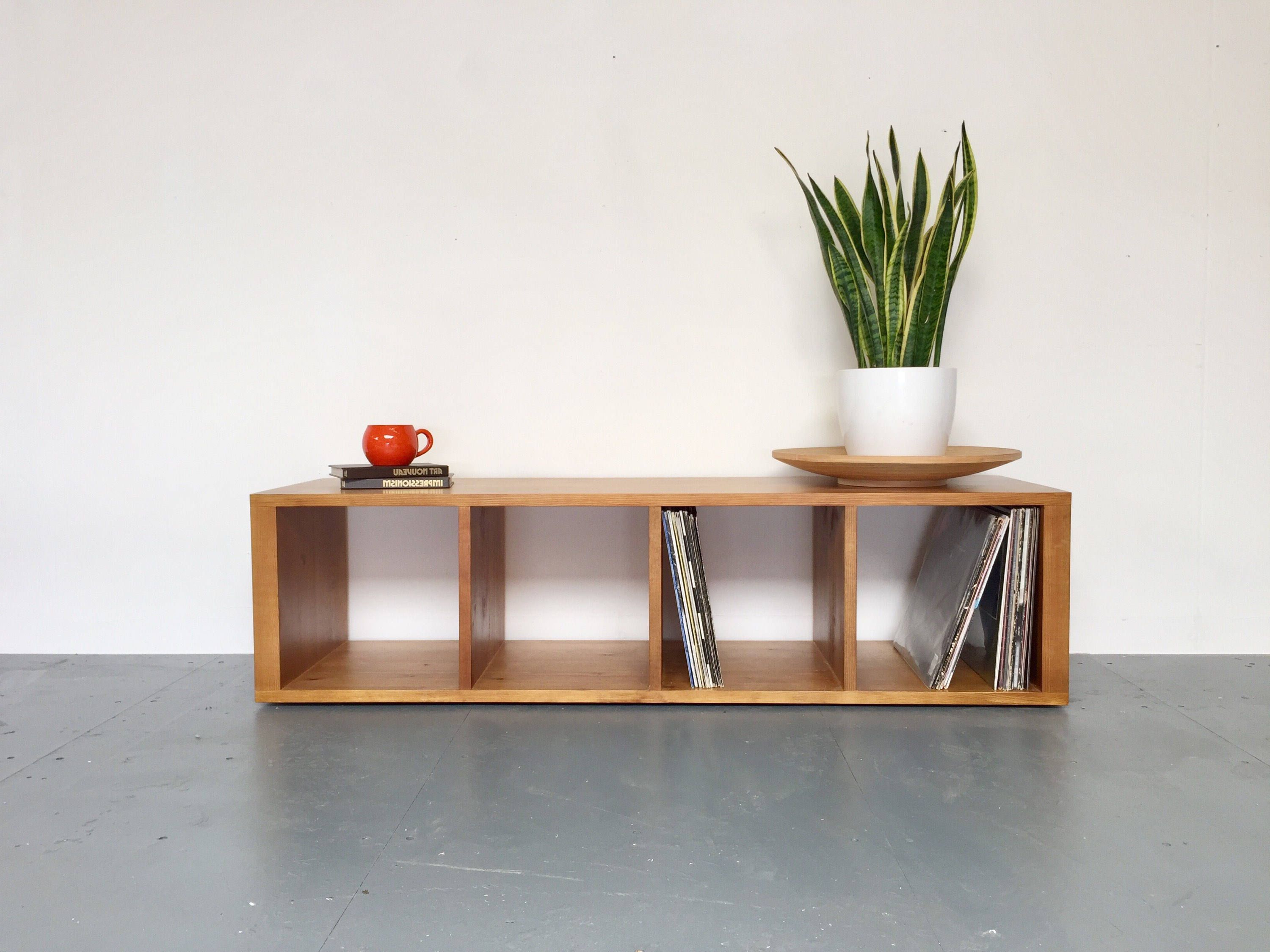 Pinaidan Freeman On Record Bench | Pinterest | Storage Bench With Regard To Oak & Brass Stacking Media Console Tables (View 11 of 20)