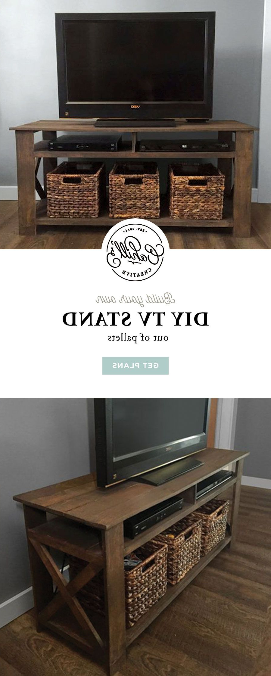 Pinkelsey Cahill On Woodworking | Pinterest | Diy Tv Stand, Diy Pertaining To Walters Media Console Tables (View 13 of 20)