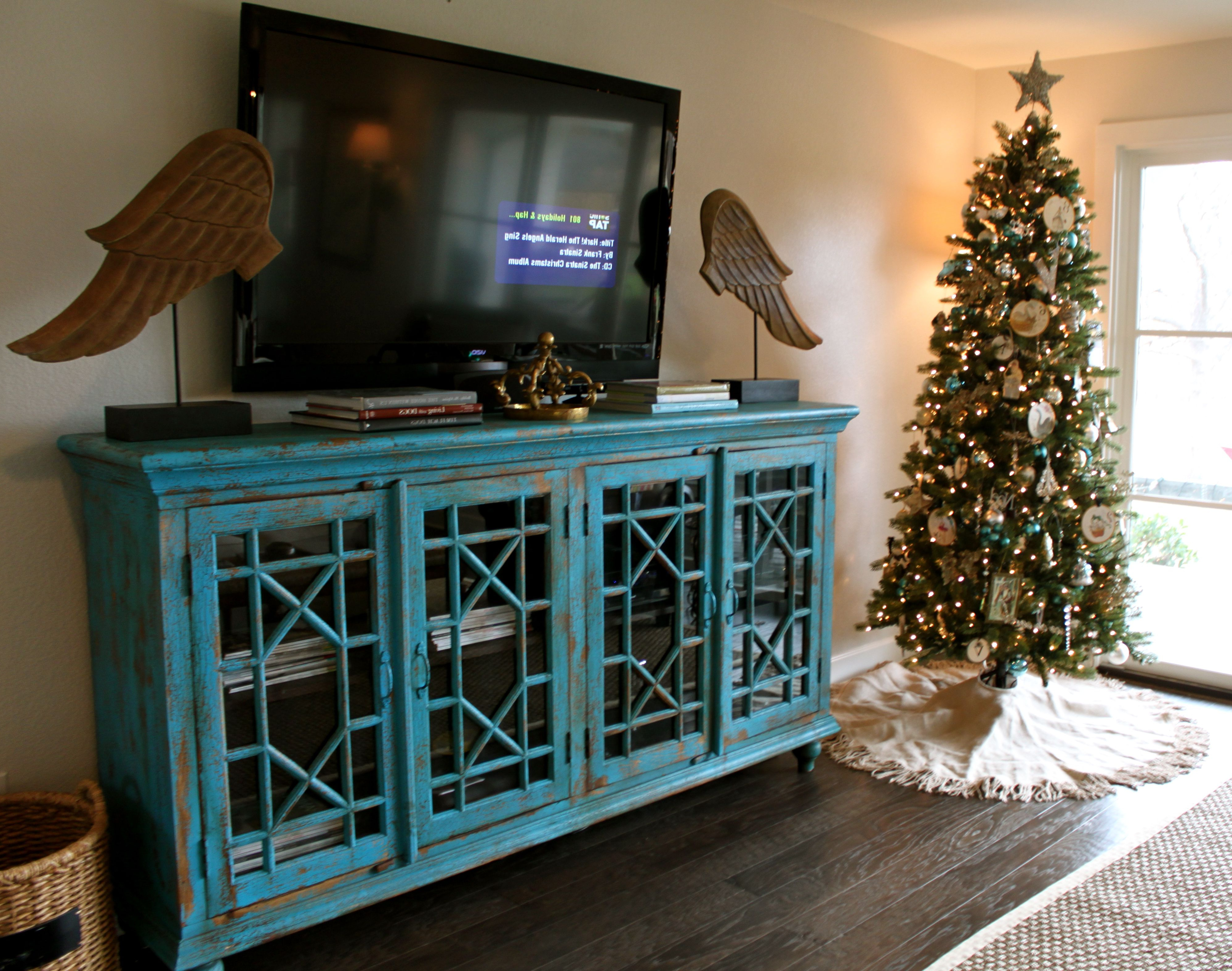 Pinleah Taylor On Decor | Diy Tv Stand, Room, Tv Cabinets Within Annabelle Blue 70 Inch Tv Stands (View 8 of 20)