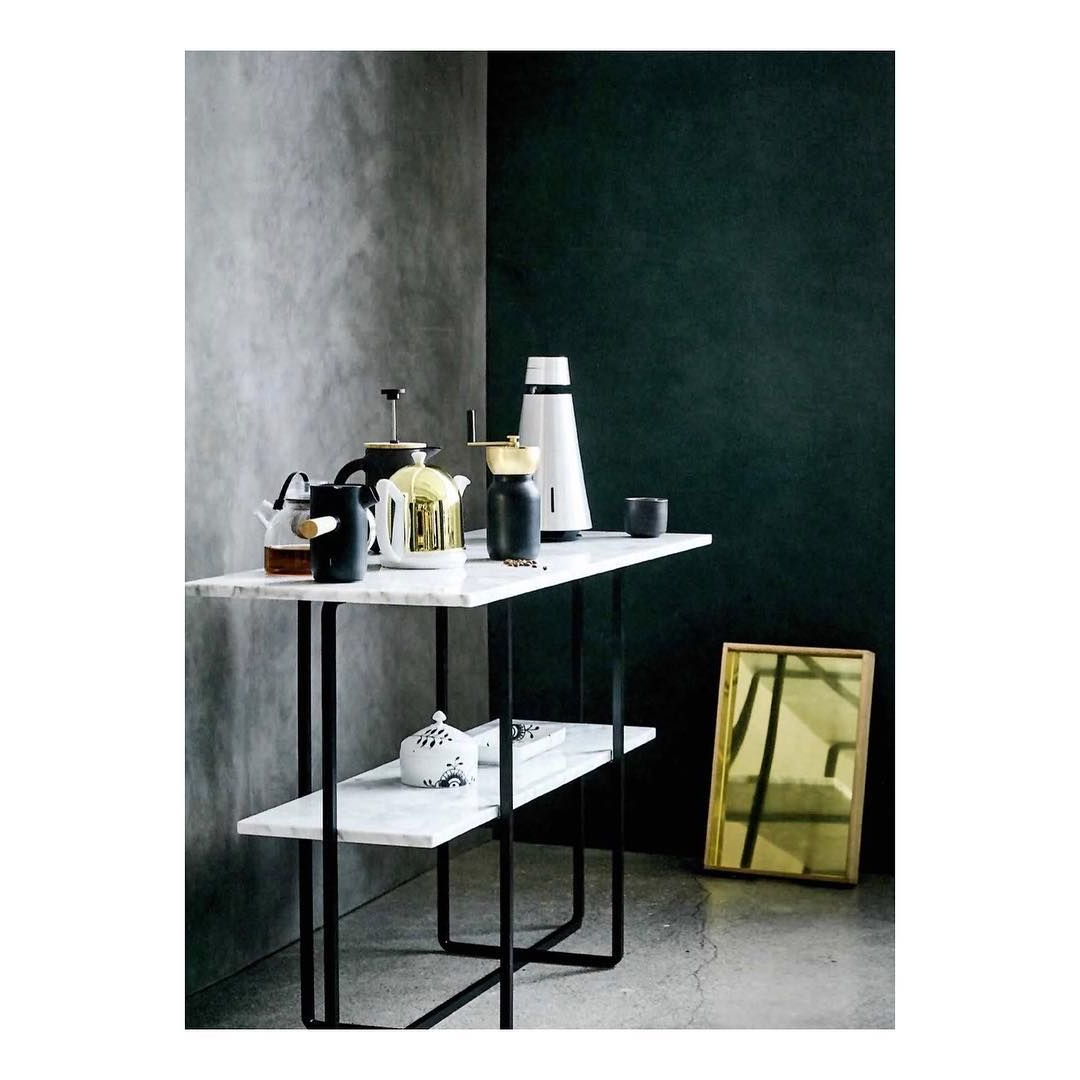 Pinox Denmarq On Council – Marble Console Table | Pinterest Throughout Parsons Black Marble Top & Stainless Steel Base 48x16 Console Tables (View 8 of 20)